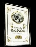 Kulmbacher Bier, Werbespiegel in Echtholzrahmen braun Reichelbräu