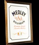 Medley Bourbon Werbespiegel in Echtholzrahmen USA