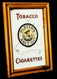 Tobacco Cigarettes, Werbespiegel in Echtholzrahmen braun Players Navy Cut