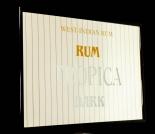 Tropica Rum, Werbespiegel im Holzrahmen schwarz, Tropica Dark Rum