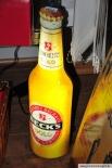 Becks Gold Flasche als Leuchtreklame, Neonleuchte, Leuchtwerbung