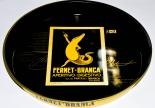 Fernet Branca, Metall Serviertablett, schwarz/gold  Aperitivo-Digestivo