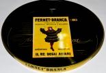 Fernet Branca, Metall Serviertablett, schwarz/gold  Il Re Degli Amari