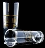 Galliano, Vodka, Acryl Shot Glas, lange goldene Ausführung
