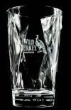Wild Turkey Bourbon Whisky, Relief Longdrinkglas, Kristallglas, Vidivi