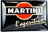 Martini Likör Blechschild / Werbeschild, 3D gewölbt Blechschild. L´aperitivo