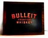 Bulleit Whiskey, Neon Leuchtreklame auf Echtholzsockel, sehr edel..