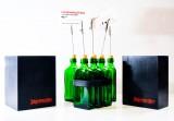 Jägermeister, Tischbaukasten, Reservierungs 5 Flaschenaufsteller, Besteckkasten