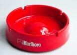 Marlboro Tabak, Aschenbecher, Keramik, große, rote Ausführung