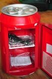 Coca Cola Mini-Kühlschrank, Kühler, Dose, Hochglanz, 220v/12v - Neuware
