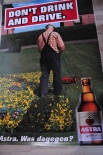 Astra Bier CITYPOSTER / Litfaßsäule Don´t drink and... Kiez, Poster, Bild