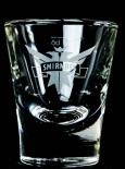Smirnoff Vodka, Shotglas, Stamper, Kurzglas, weiß satiniert,Eagle