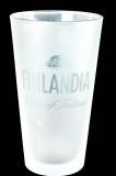 Finlandia Vodka, Satiniertes Longdrinkglas, 2cl, 4cl, kleine Version