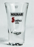 Molinari Extra, Sambuca Shotglas große Ausführung, 4cl