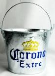 Corona Extra Eiswürfeleimer, Eiswürfelbehälter, Flaschenkühler, Zink Krone