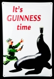Guinness Bier, Blechschild, Werbeschild It´s Guinness Time