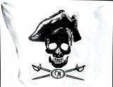 Captain Morgan, statisch haftender Aufkleber, Werbeaufkleber, Totenkopf