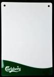 Carlsberg Bier, Acryl, Kreidetafel, Schreibtafel, weiße Ausführung