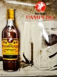 Pampero Rum, Blechschild, Werbeschild Ron Anejo, braun