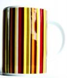 Jacobs Krönung Meisterröstung, Kaffebecher, Tasse, gestreift. Jubiläumsedition