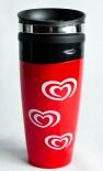Langnese XXL Thermobecher / Kaffeebecher mit Verschluß, Kunststoff