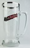 Duckstein Bierkrug, Glas / Gläser, Mini Bierglas mit Silberrand, Logo schmal