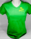 Canario Cachaca, T-Shirt, Girly, grün uni, V-Ausschnitt,CanaRio Gr. S