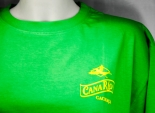 Canario Cachaca, T-Shirt, Herren grün uni, Rund-Ausschnitt, CanaRio Gr. L