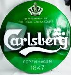 Carlsberg Bier, XXL Außen - Neon Leuchtreklame, Grüne runde Ausführung
