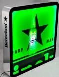 Heineken Bier LED Leuchtreklame, Neonleuchte, Leuchtwerbung rechteckig