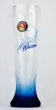 Paulaner Weissbier, Effekt Bierglas 0,5l Wasser blaue Sonderedition