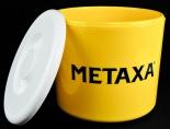 Metaxa, 10l Eiswürfelkühler, Eisbox, Eiswürfelbehälter, 3teilig, Gelb / Weiß