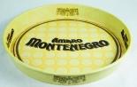 Amaro Montenegro Metall Serviertablett, Tablett, gelb Montenegro