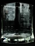 Bushmills Whisky, Glas, Tumbler, Relief, eckige Ausführung