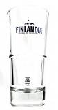 Finlandia Vodka, Longdrink Glas, Cocktail Glas, blaues Logo, APS