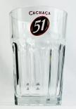 Cachaca 51, Caipirinha Cocktail Glas, Longdrink Glas, Relief Kontur