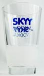 Skyy Vodka, Halb satiniertes Vodka Longdrink Glas, Logo blau, 2cl/4cl