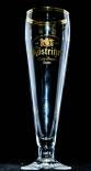 Köstritzer Glas / Gläser, Bierglas, Biergläser, Ferrara Pokal 0,4l doppelter Goldrand