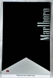 Marlboro, XXL Echtholz Schreibtafel, Silber-Schwarz, sehr massive Ausführung