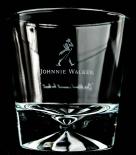 Johnnie Walker, Whisky Glas, Tumbler, Sternprägung im Fuß