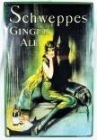 Schweppes, Blechschild, Werbeschild, Reklameschild Ginger Ale