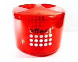 Effect Energy, Acryl,10l Eiswürfelbehälter, rote Ausführung, 3-teilig