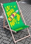 Desperados Bier, Buchenholz Liegestuhl, grüne Ausführung Lay down-Party up