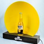 Corona Extra Bier LED Leuchtreklame, Flaschenleuchte in Holzoptik, dimmbar