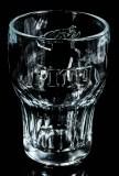 Pitu, Cachaca Relief Cocktailglas, schwere Ausführung
