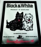Black & White Whisky, Werbespiegel Scotch Terrier Kunststoffrahmen