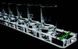 Sourz Likör, Shot Träger aus Acryl mit 10 x Shot Gläsern