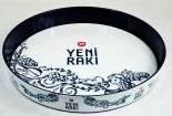 Yeni Raki, Anis Distilling, Servier Tablett, blau-weiße Ausführung
