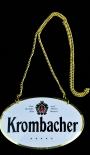 Krombacher Bier, Emaile Zapfhahnschild mit Goldkette