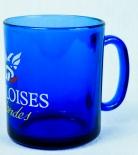 Gauloises Tabak, Teebecher, Kaffebecher, Tasse aus Glas, blaue Ausführung